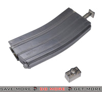 Dboys / Firepower M4 Magazine Shaped 500rd BB Speed Loader - Transparent Black BB Accessories- ModernAirsoft.com