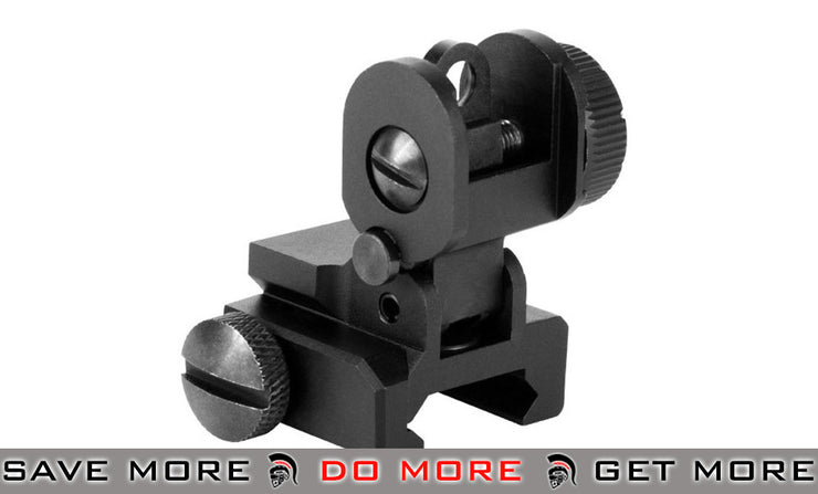 AIM Sports Dual Aperture Rear Flip-up Sight for AR15/M16 A2 iron sights- ModernAirsoft.com