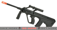 GHK Gas Blowback AUG A1 Airsoft Rifle with Integrated Optic - Black Gas Blowback Rifle- ModernAirsoft.com