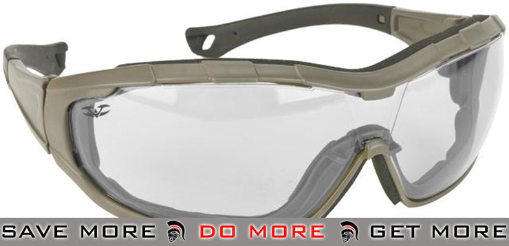 Green Frame / Clear Lens Axis Tactical Goggles by Valken - Modern Airsoft