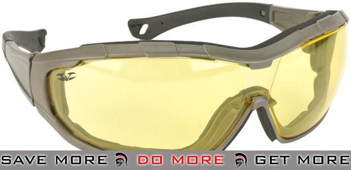 Green Frame / Yellow Lens Axis Tactical Goggles by Valken