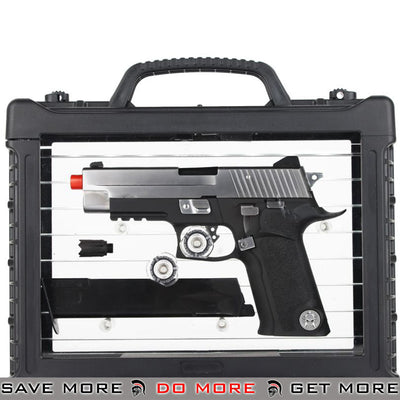 WE-Tech FULL METAL P-VIRUS Gas Blowback Green Gas Airsoft GBB Pistol w/ LED Case