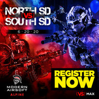 NORTH SD vs SOUTH SD Airsoft Event