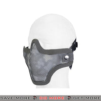 Lancer Tactical Full Metal Mesh Lower Face Mask AC-103AU - ACU Face Masks- ModernAirsoft.com