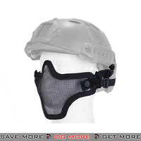 Lancer Tactical Full Metal Mesh Lower Face Mask AC-103BH - Black, Helmet Compatible Face Masks- ModernAirsoft.com