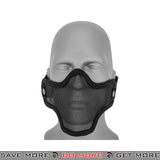 Lancer Tactical Full Metal Mesh Lower Face Mask AC-103B - Black Face Masks- ModernAirsoft.com
