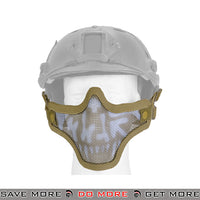 Lancer Tactical Full Metal Mesh Lower Face Mask AC-103DH - Digital Desert, Helmet Compatible Face Masks- ModernAirsoft.com