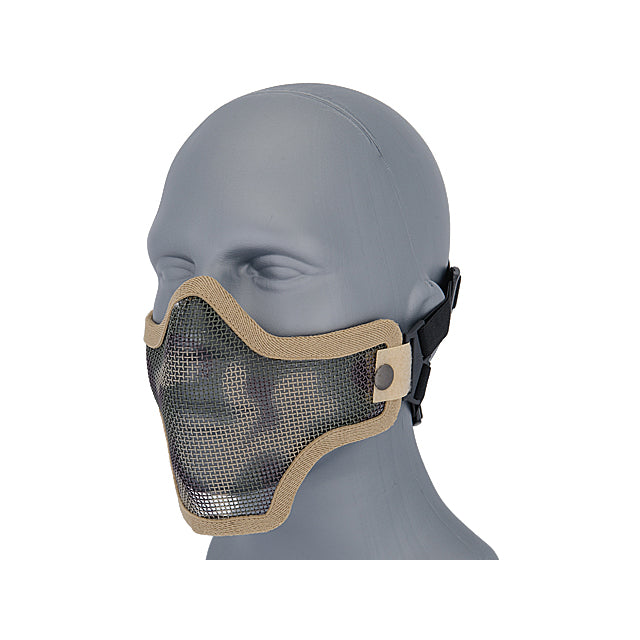 Lancer Tactical Full Metal Mesh Lower Face Mask AC-103D - Desert Camo Face Masks- ModernAirsoft.com