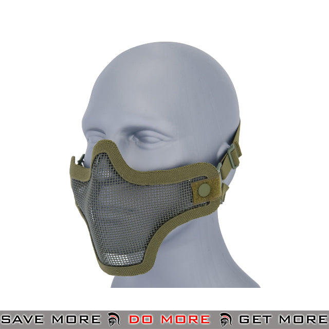 Lancer Tactical Full Metal Mesh Lower Face Mask AC-103G - OD Green Face Masks- ModernAirsoft.com