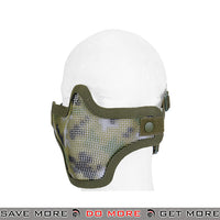 Lancer Tactical Full Metal Mesh Lower Face Mask AC-103JD - Jungle Digital Face Masks- ModernAirsoft.com