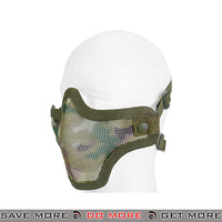 Lancer Tactical Full Metal Mesh Lower Face Mask AC-103MC - Multicam Face Masks- ModernAirsoft.com