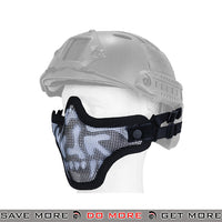Lancer Tactical Full Metal Mesh Lower Face Mask AC-103SH - Black Skull, Helmet Compatible Face Masks- ModernAirsoft.com