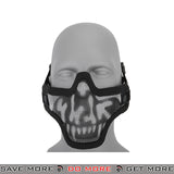 Lancer Tactical Full Metal Mesh Lower Face Mask AC-103S - Black Skull Face Masks- ModernAirsoft.com