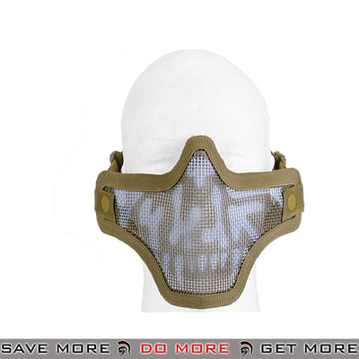 Lancer Tactical Full Metal Mesh Lower Face Mask AC-103T2 - Tan Skull Face Masks- ModernAirsoft.com