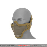 Lancer Tactical Full Metal Mesh Lower Face Mask AC-103T - Tan Face Masks- ModernAirsoft.com