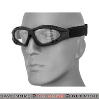 Lancer Tactical ZERO Polycarbonate Clear Lens Goggles AC-106BG - Black Head - Goggles- ModernAirsoft.com