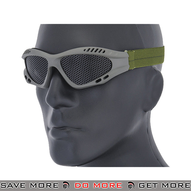 Lancer Tactical ZERO Steel Mesh Goggles AC-106G2 - OD Green Head - Goggles- ModernAirsoft.com