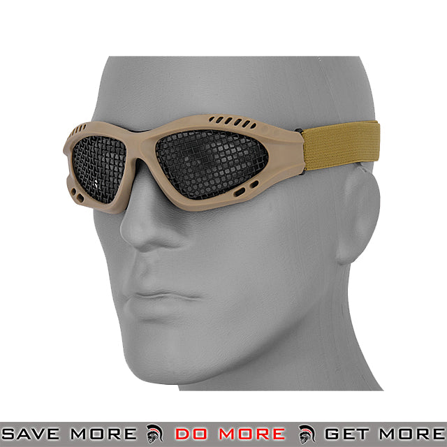 Lancer Tactical ZERO Wire Mesh Goggles AC-106T - Tan Head - Goggles- ModernAirsoft.com