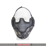 Lancer Tactical Ear Protection Mesh Padded Nylon Lower Face Mask AC-108A - ACU Face Masks- ModernAirsoft.com