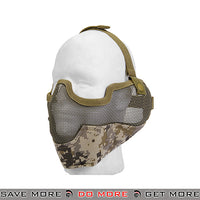 Lancer Tactical Ear Protection Mesh Padded Nylon Lower Face Mask AC-108DD - Digital Desert Face Masks- ModernAirsoft.com