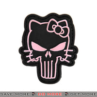 Lancer Tactical Velcro Morale Patch AC-110B - PVC Punisher Kitty, Pink & Black Patch- ModernAirsoft.com