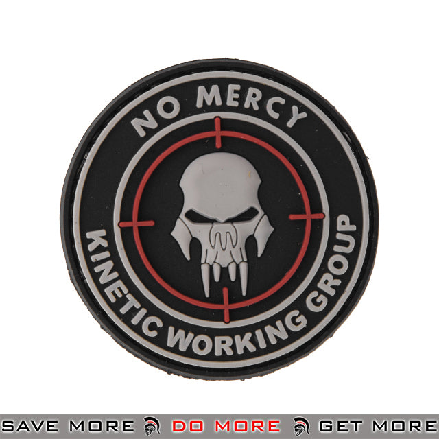 Lancer Tactical Velcro Morale Patch AC-110E - PVC No Mercy KWG Patch- ModernAirsoft.com