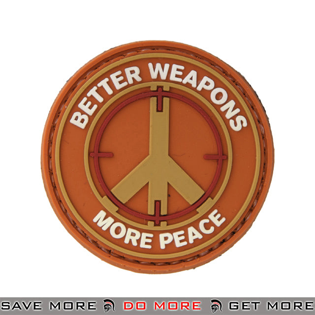 Lancer Tactical Velcro Morale Patch AC-110F - PVC Better Weapons More Peace Patch- ModernAirsoft.com