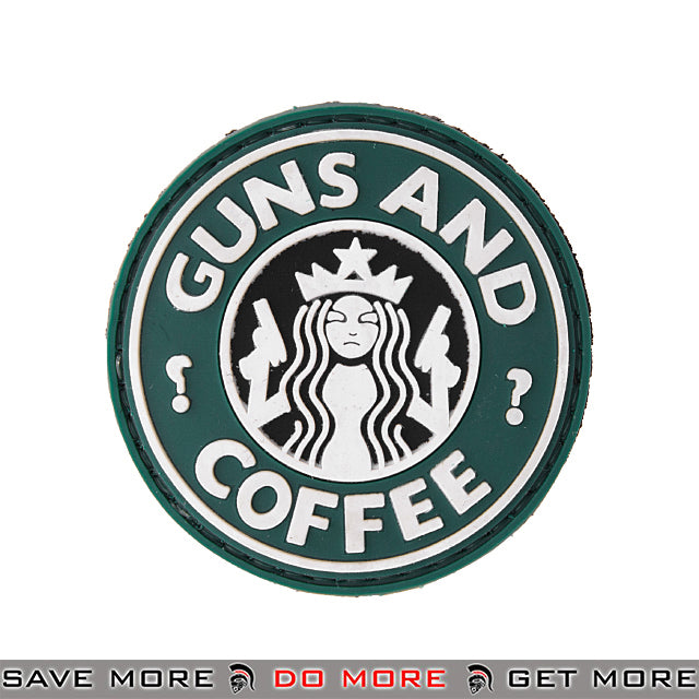 Lancer Tactical Velcro Morale Patch AC-110J - PVC Guns and Coffee Patch- ModernAirsoft.com