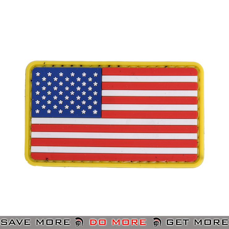 Lancer Tactical Velcro Morale Patch AC-110N - US Flag, RWB Patch- ModernAirsoft.com