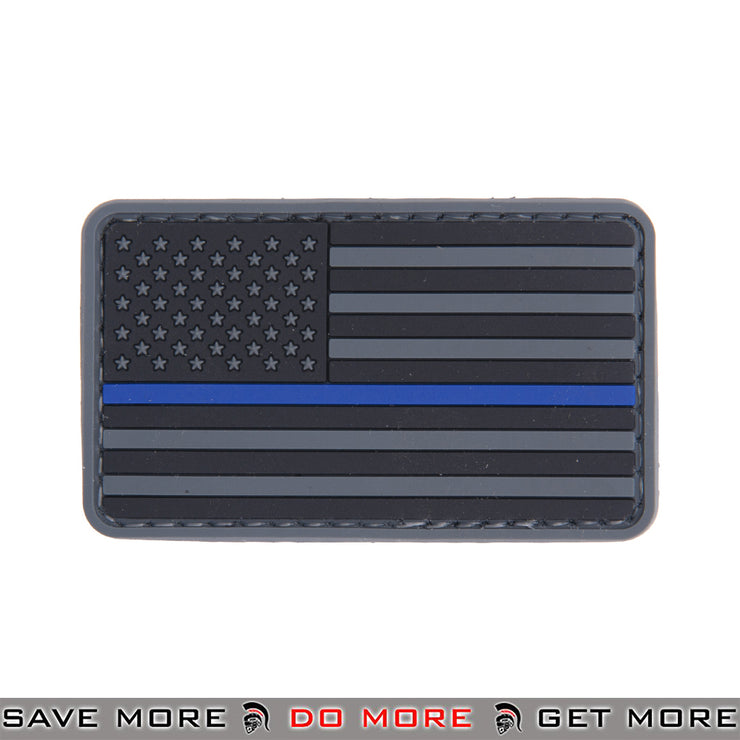 Lancer Tactical Velcro Morale Patch AC-110P - US Flag, Thin Blue Line Patch- ModernAirsoft.com