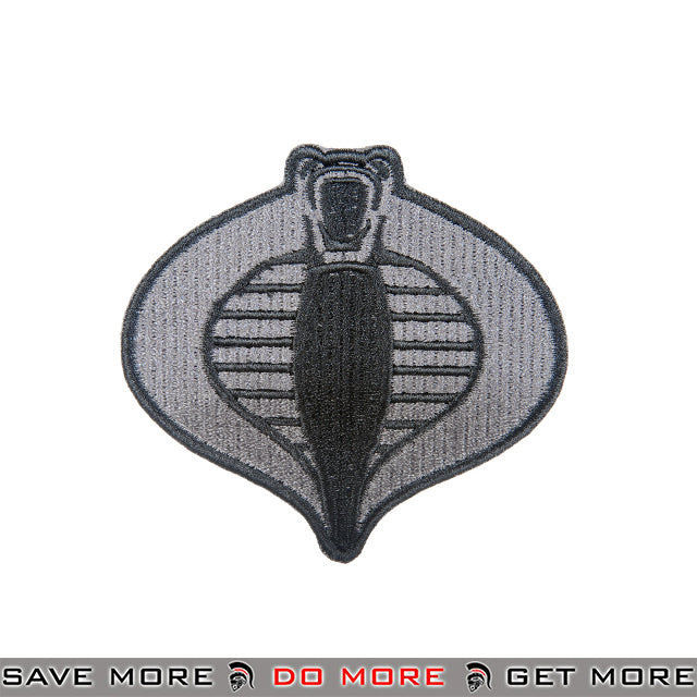 Lancer Tactical Velcro Morale Patch AC-126A - Cobra, Gray Patch- ModernAirsoft.com