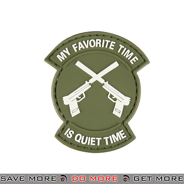 Lancer Tactical Velcro Morale Patch AC-130N - PVC Quiet Time, Green Patch- ModernAirsoft.com