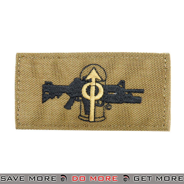 Lancer Tactical Velcro Morale Patch AC-133T - M203 Grenadier Role, Tan Patch- ModernAirsoft.com