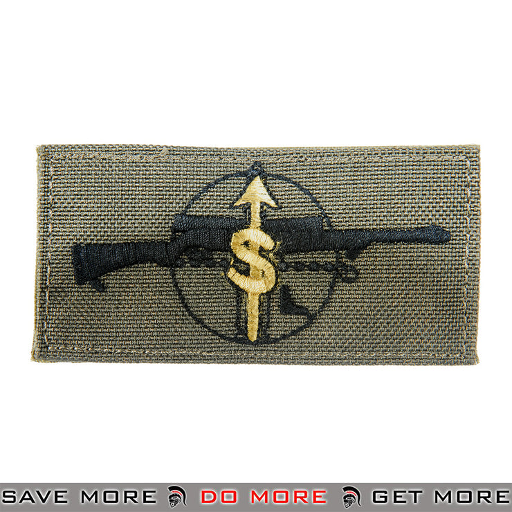 Lancer Tactical Velcro Morale Patch AC-134G - M24 Sharpshooter Role, Green Patch- ModernAirsoft.com