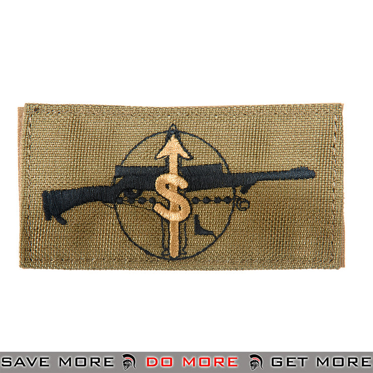 Lancer Tactical Velcro Morale Patch AC-134T - M24 Sharpshooter Role, Tan Patch- ModernAirsoft.com
