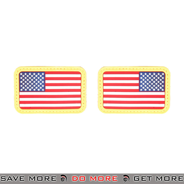 Lancer Tactical Velcro Morale Patch AC-139C - Rubber US Flag Forward / Reverse Set, RWB Patch- ModernAirsoft.com