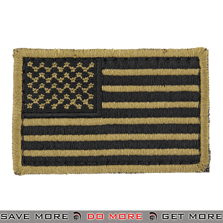 Lancer Tactical Velcro Morale Patch AC-140M - US Flag, Tan Patch- ModernAirsoft.com