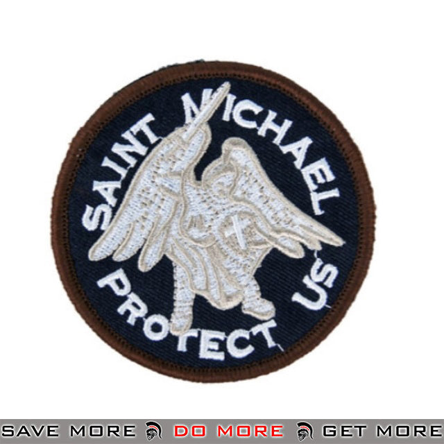Lancer Tactical Velcro Morale Patch AC-141C - St. Michael, Black Patch- ModernAirsoft.com