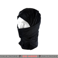 Lancer Tactical Balaclava AC-177B - Black Head - Hats- ModernAirsoft.com