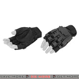 ACM Airsoft Paintball Armored Reinforced Assault Half Finger Gloves AC-222 - Black Gloves- ModernAirsoft.com