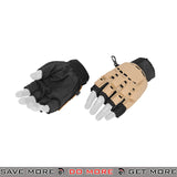 ACM Airsoft Paintball Armored Reinforced Assault Half Finger Gloves AC-224 - Tan Gloves- ModernAirsoft.com