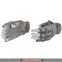 ACM Airsoft Paintball Armored Reinforced Assault Half Finger Gloves AC-225 - ACU Gloves- ModernAirsoft.com