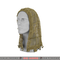Lancer Tactical Concealment Ghillie Head Net Hood AC-266T - Tan Head - Hats- ModernAirsoft.com