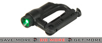 FMA D-Buckle Mini Light - Black/Green flashlight- ModernAirsoft.com