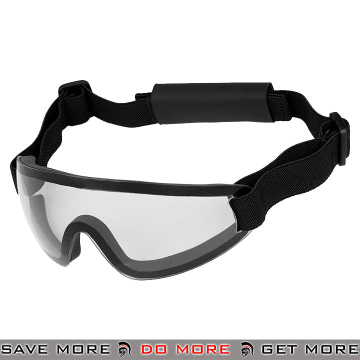 Lancer Tactical Low Profile Boogie Regulator Style Goggles AC-375C - Clear Lens Head - Goggles- ModernAirsoft.com