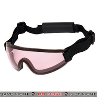 Lancer Tactical Low Profile Boogie Regulator Style Goggles AC-375P - Pink Lens Head - Goggles- ModernAirsoft.com
