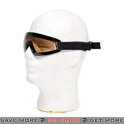Lancer Tactical Low Profile Boogie Regulator Style Goggles AC-375T - Tea Brown Lens Head - Goggles- ModernAirsoft.com
