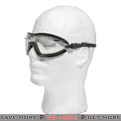 Lancer Tactical Thin Strap Boogie Regulator Style Goggles AC-376C - Clear Lens Head - Goggles- ModernAirsoft.com
