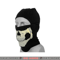Lancer Tactical Winter Weight Glow in the Dark Skull Balaclava AC-381B - Black Head - Hats- ModernAirsoft.com