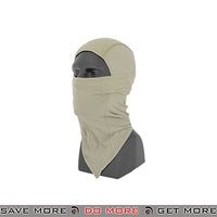 Lancer Tactical Long Balaclava AC-386KL - Khaki Head - Hats- ModernAirsoft.com